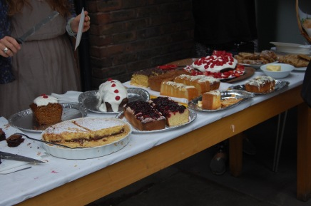 cakes on a table
