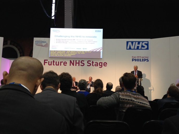 future nhs stage at health and innovation expo in manchester