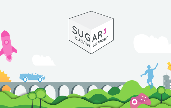 sugar3 app for type 1 diabetes logo